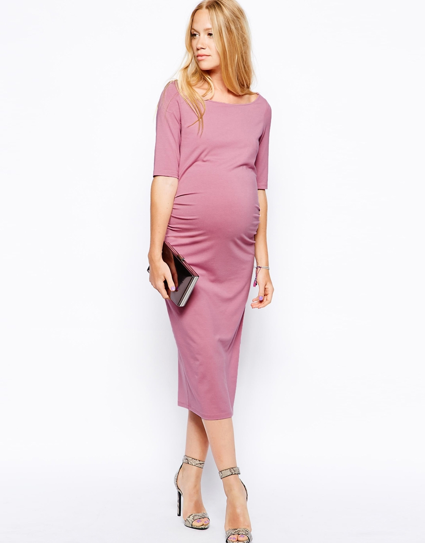 new products the cheapest most fashionable ASOS Pink Exclusive Bardot Dress With Half Sleeve