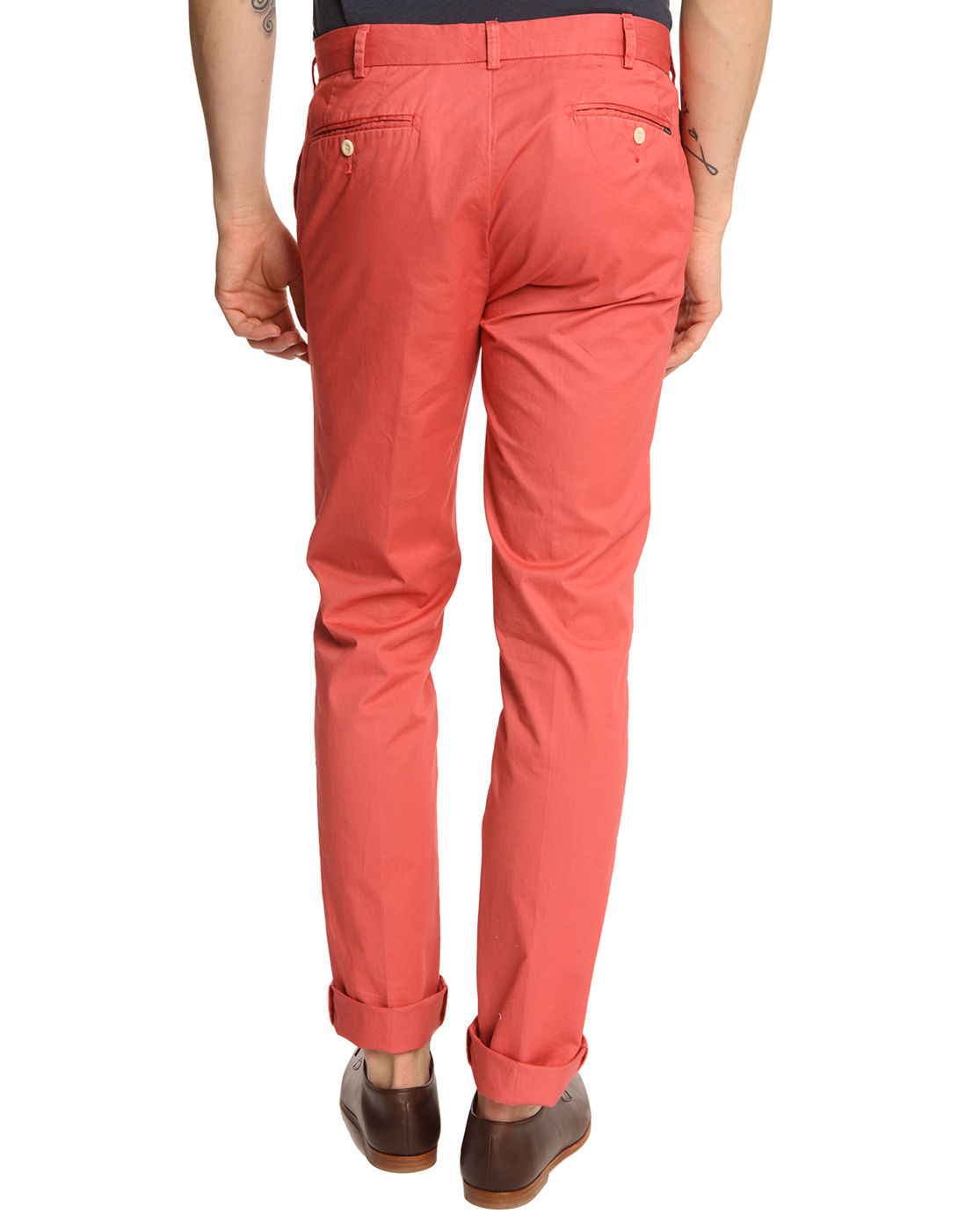 Polo Ralph Lauren Hudson Brick Red Chinos In Red For Men