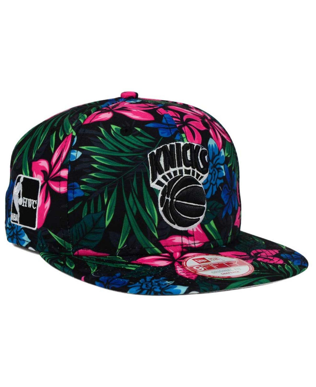 Lyst - KTZ New York Knicks Shadow Floral 9fifty Snapback Cap in ... 57b005c49e8