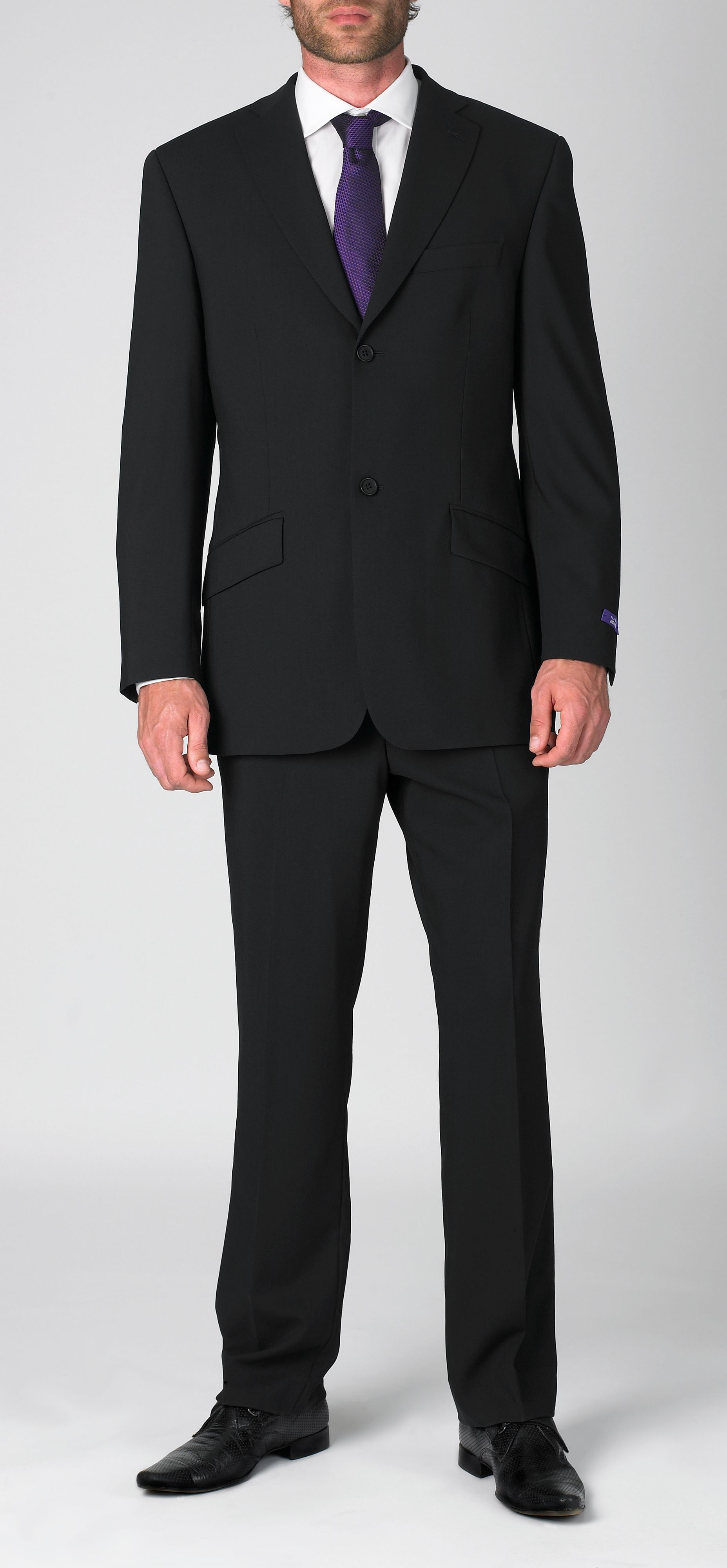 Ted Baker Formal Mark Iii Wool Singlebreasted Jacket in Black for Men