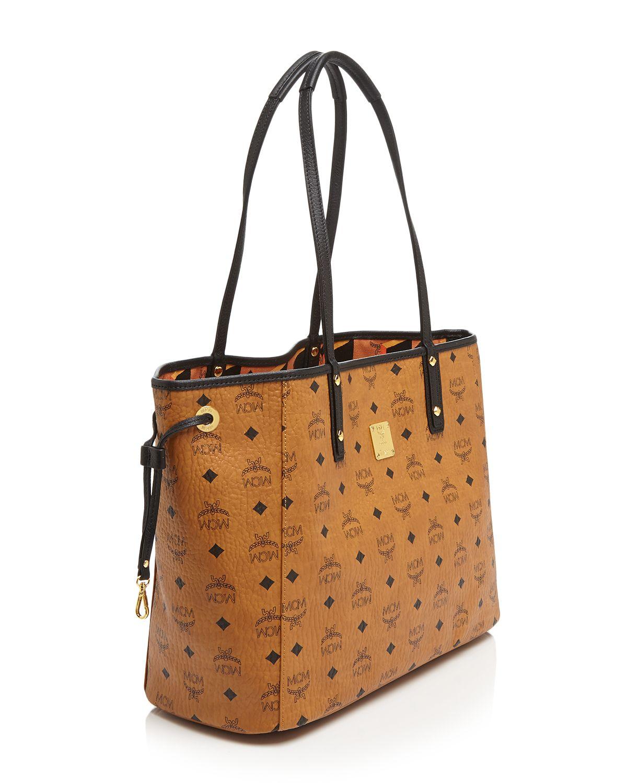 MCM Tote - Shopper Project Visetos Reversible in Cognac (Brown)