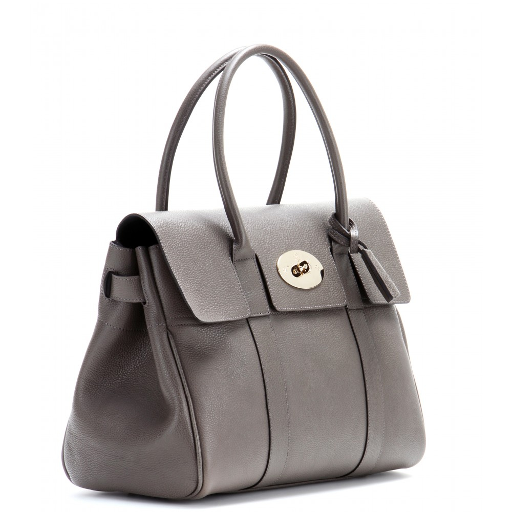 427b47ebc660 ... coupon for lyst mulberry bayswater small leather tote in gray bf9eb  cef70