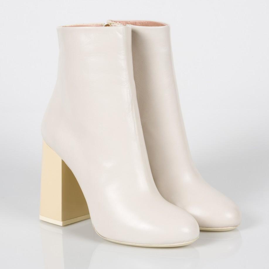 0c773f575d06 Lyst - Paul Smith Women s Ivory Leather And Snakeskin  eileen ...