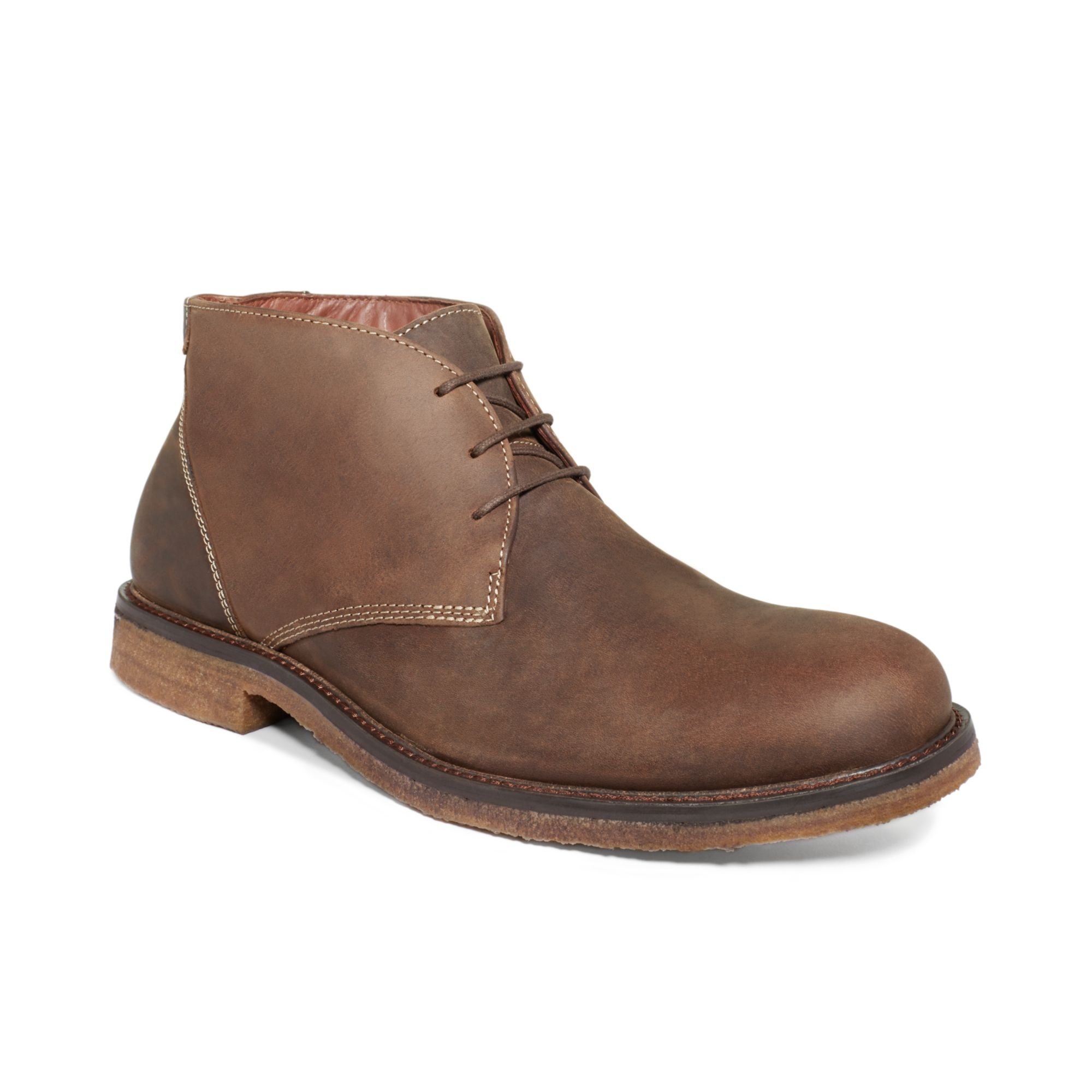 Johnston Amp Murphy Copeland Suede Chukka Boots In Brown For