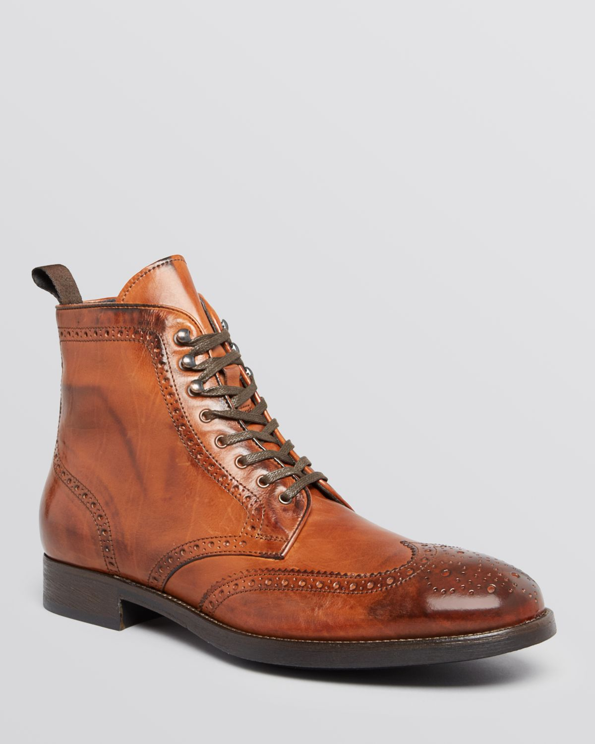 to boot brennan wingtip boots in brown for lyst