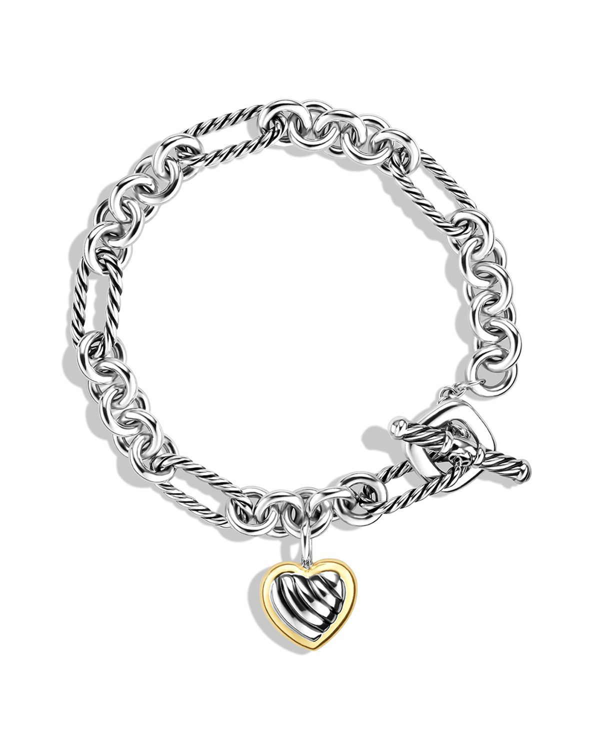 david yurman charm bracelet david yurman cable charm bracelet with gold in 7757