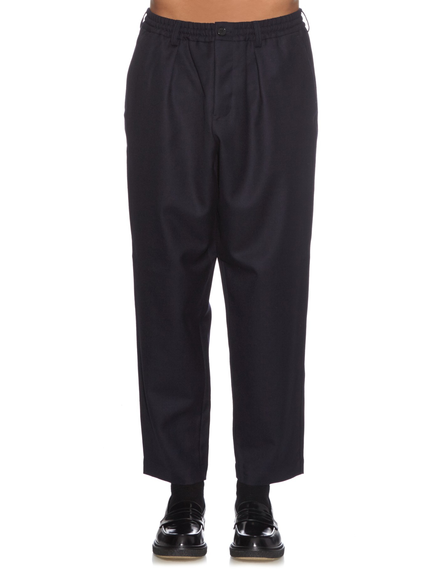 Marni Wool-twill Trousers in Navy (Blue) for Men