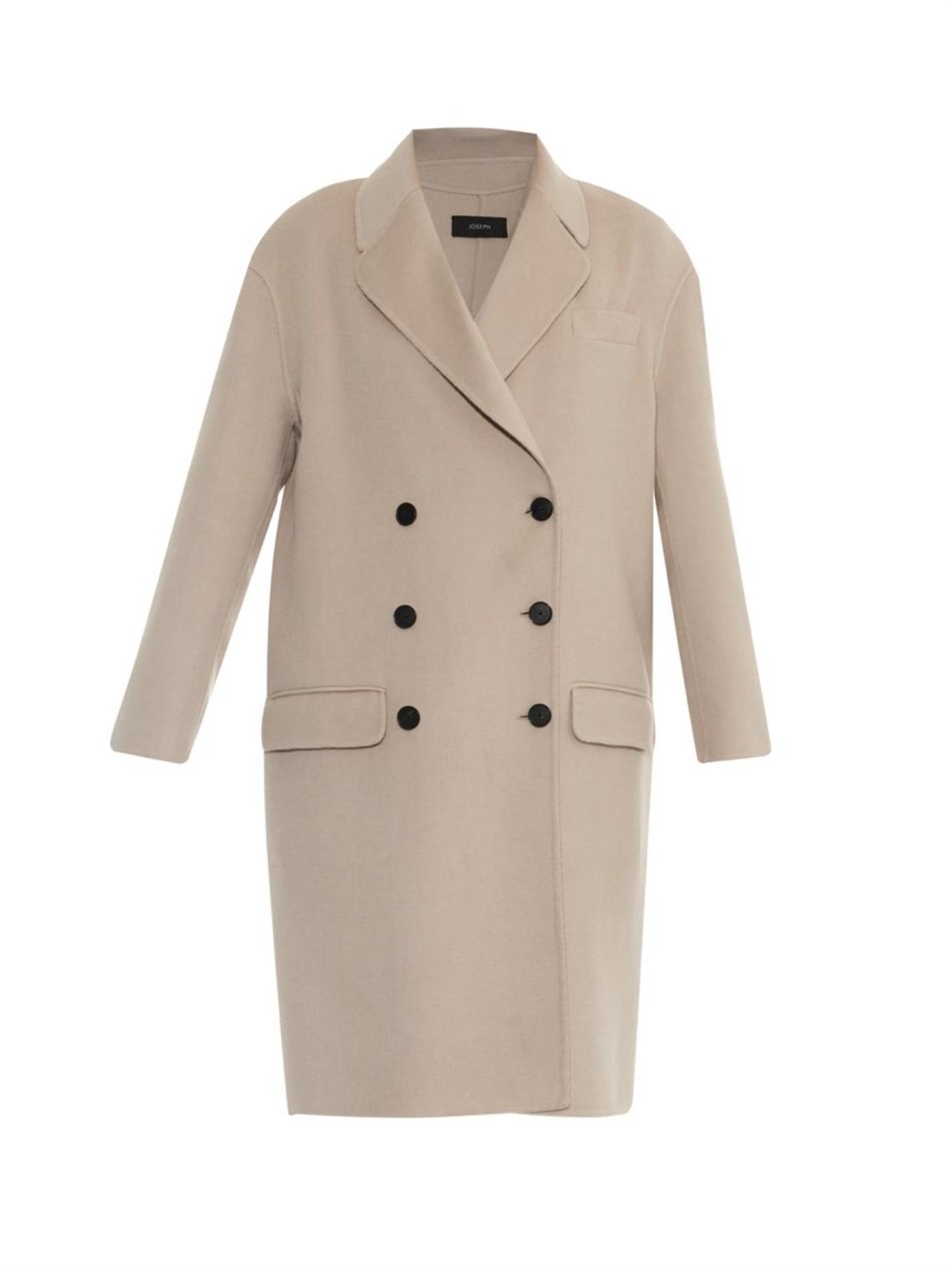 Joseph Shrimpton Cashmere-Blend Coat in Natural | Lyst