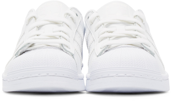 zdxos Adidas originals Superstar 80s White Leather Trainers in White for