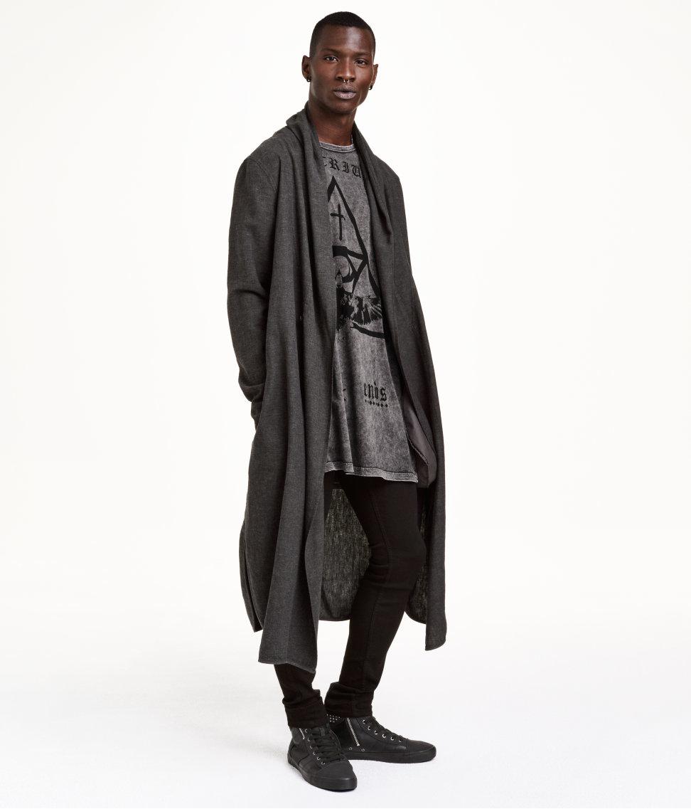 H&m Coat In A Linen Blend in Black for Men | Lyst