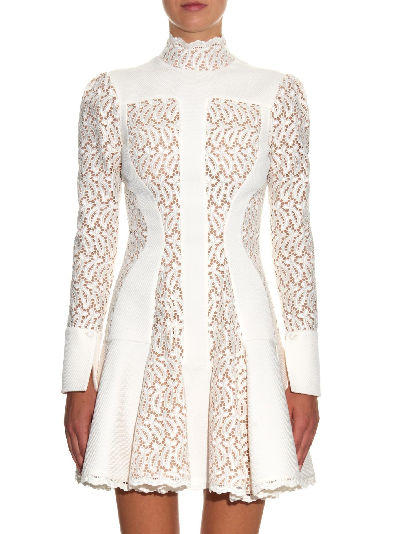Dropped-waist lace dress Alexander McQueen EJZuf8l3yG