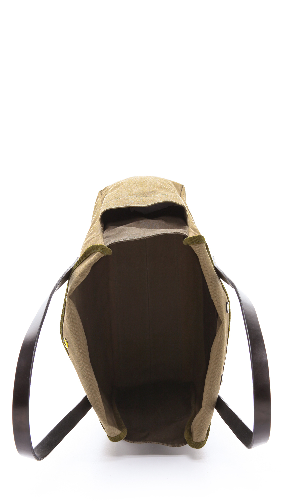 Southern Field Industries Waxed Canvas Px Tote in Oak/Black (Brown) for Men