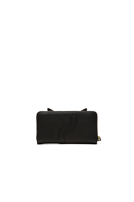 NEW Versace Collection Men/'s Logo Plaque Saffiano Black Leather Wallet C93127S