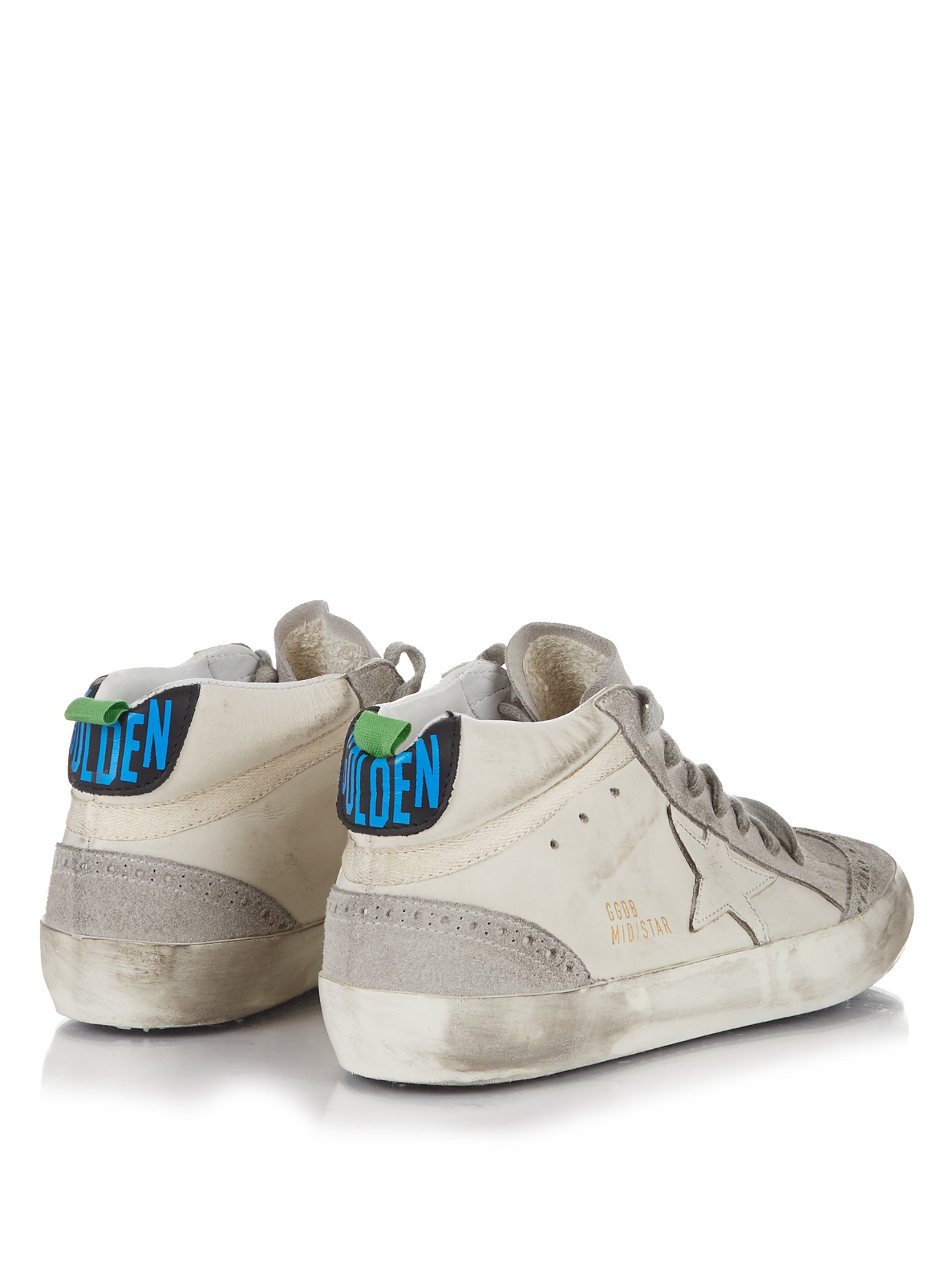Golden Goose Deluxe Brand Mid Star Leather And Suede Trainers in White