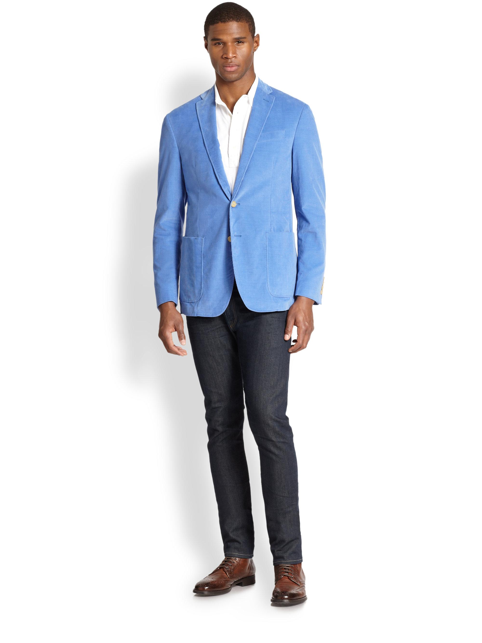 Lyst Polo Ralph Lauren Yale Corduroy Sport Coat In Blue