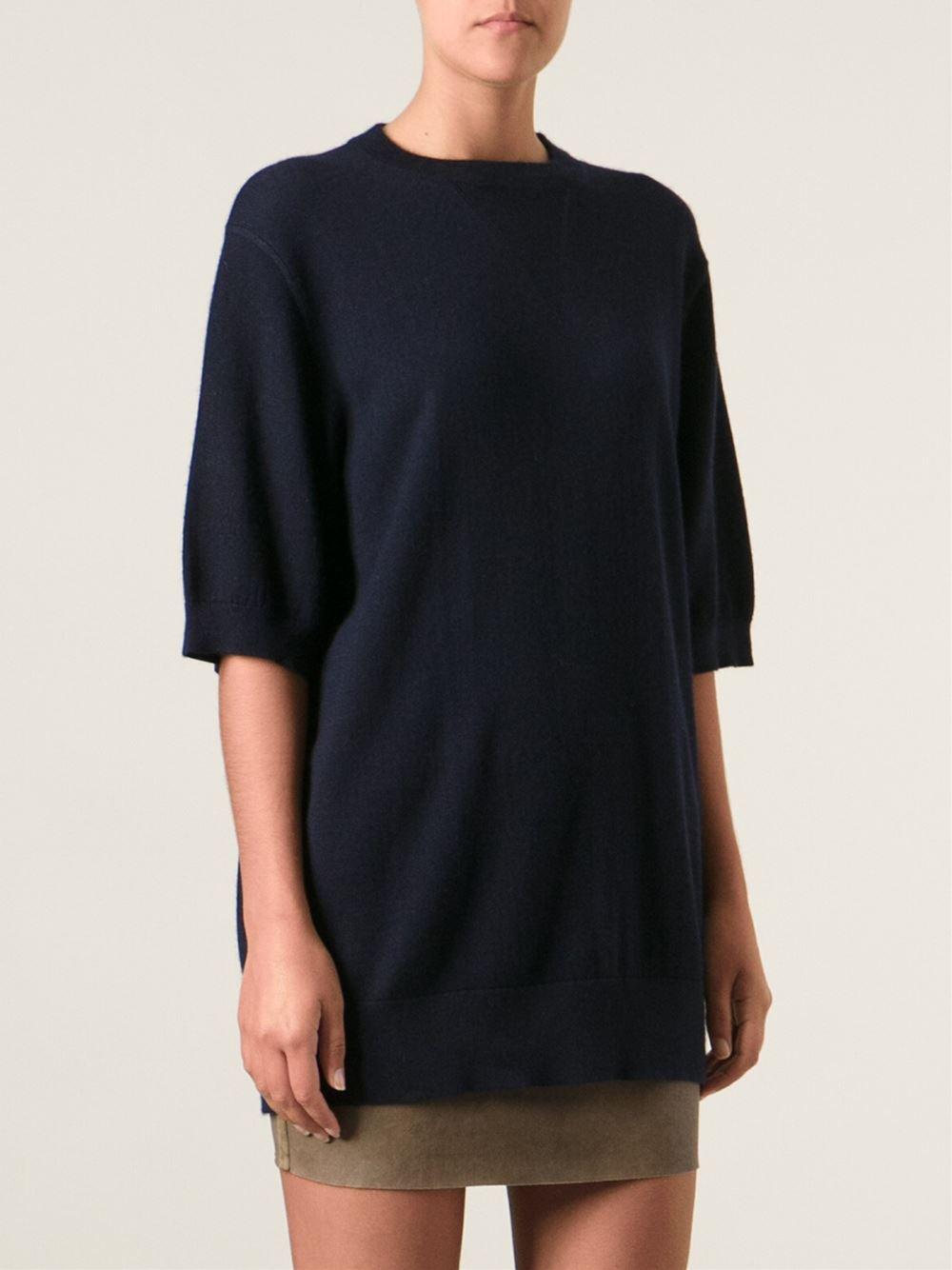 isabel marant 39 olivia 39 sweater in blue lyst. Black Bedroom Furniture Sets. Home Design Ideas