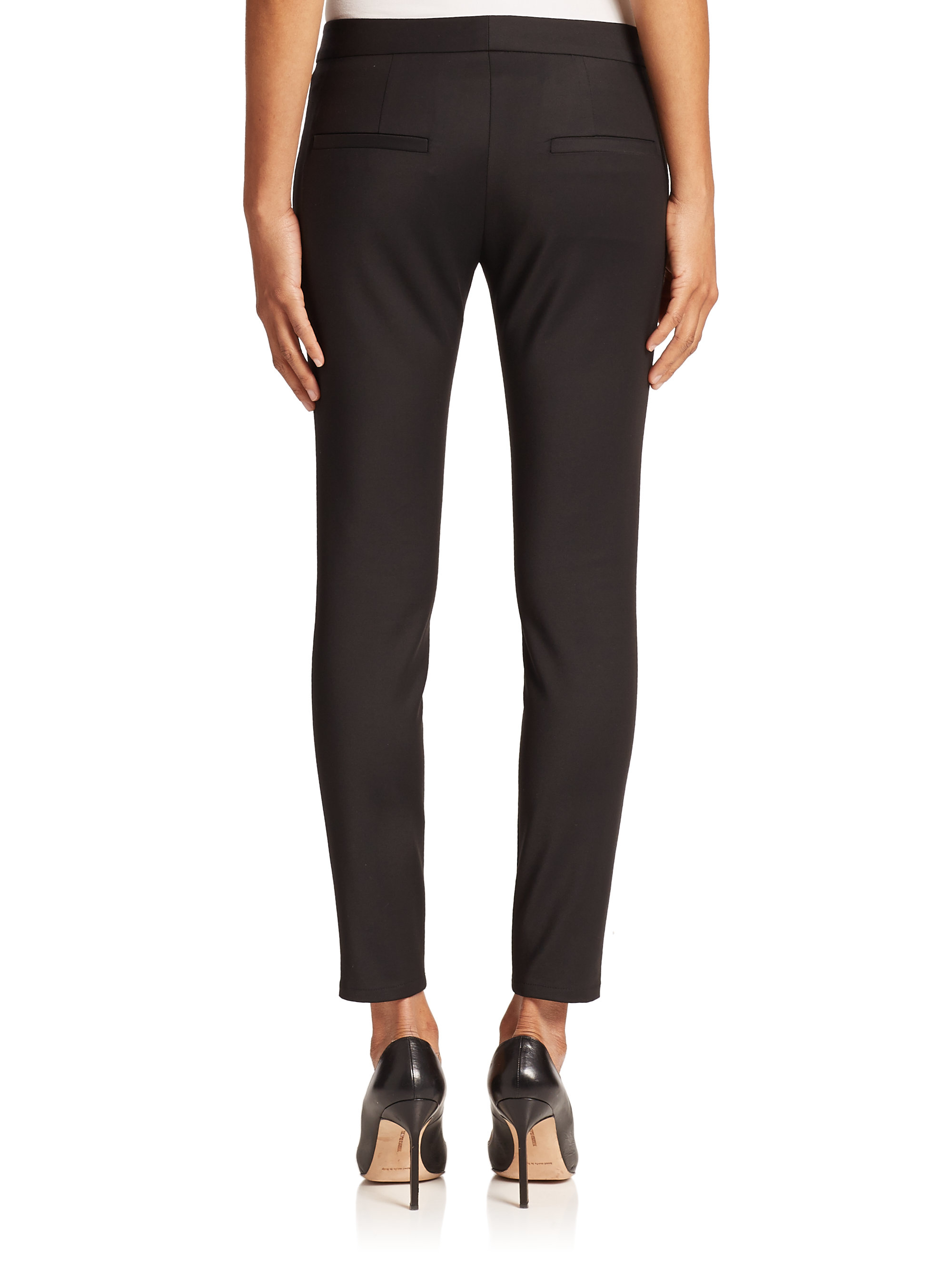 L Agence Low Rise Skinny Pants In Black Lyst