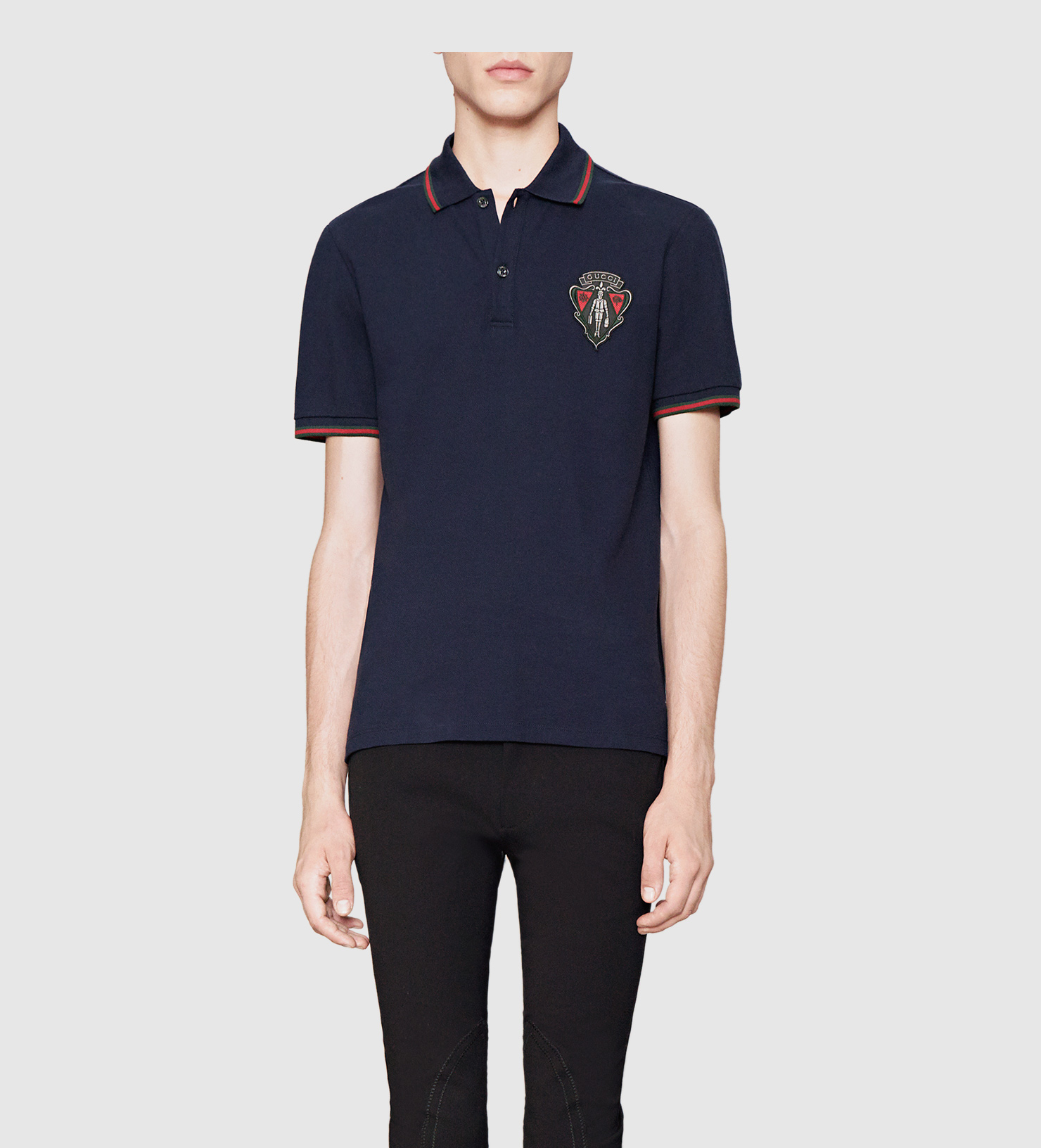 Gucci Polo Shirt From Equestrian Collection In Blue For