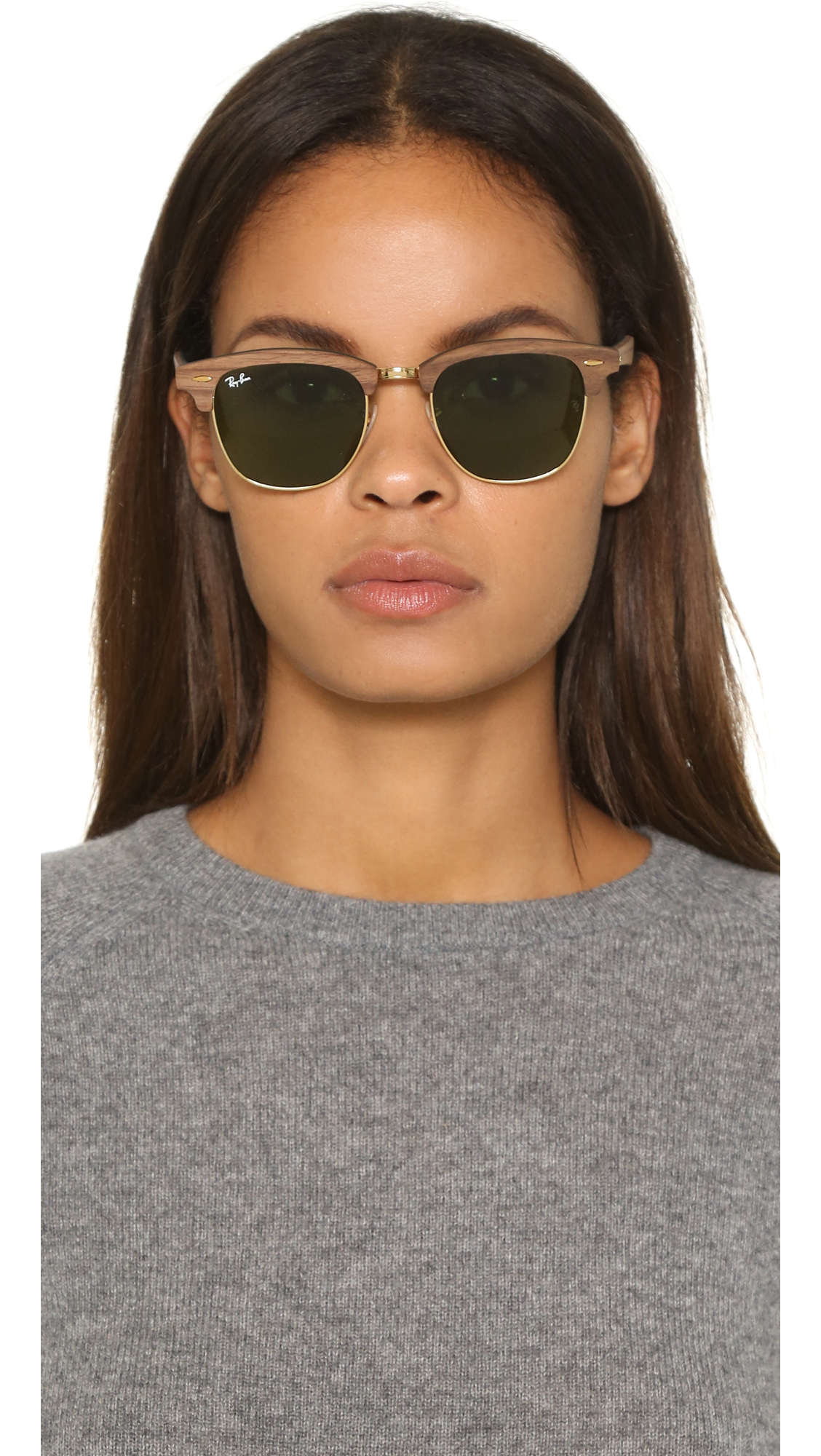 013583750979 Lyst - Ray-Ban Clubmaster Wood Sunglasses in Brown