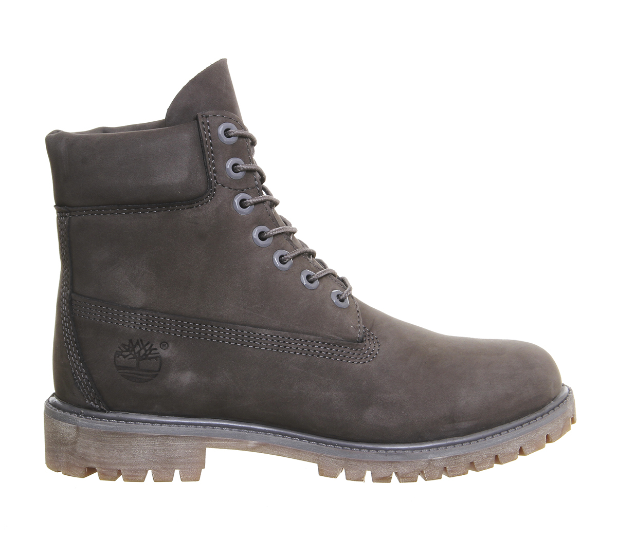 timberland 6 in buck boots in gray for men lyst. Black Bedroom Furniture Sets. Home Design Ideas