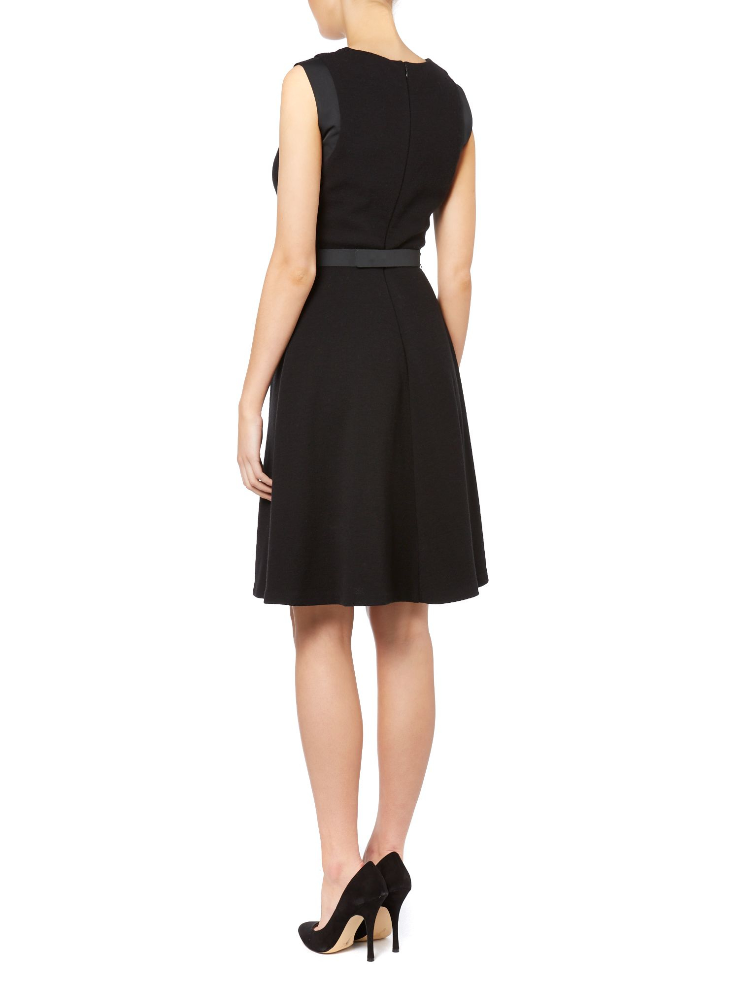 Max Mara Synthetic Pinza A Line Dress With Jewelled Belt