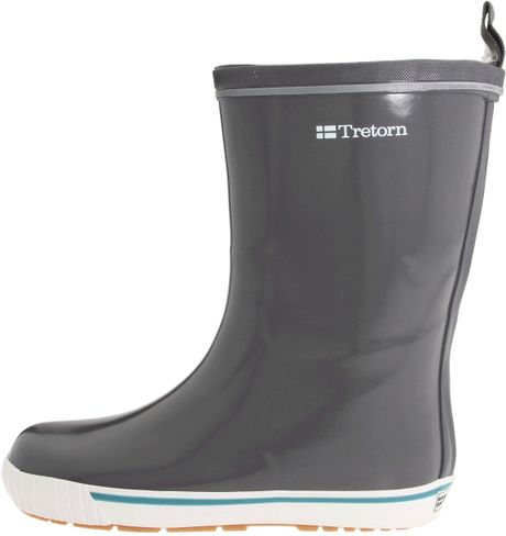 Tretorn Skerry Metallic Rain Boot In Gray Glossy Charcoal