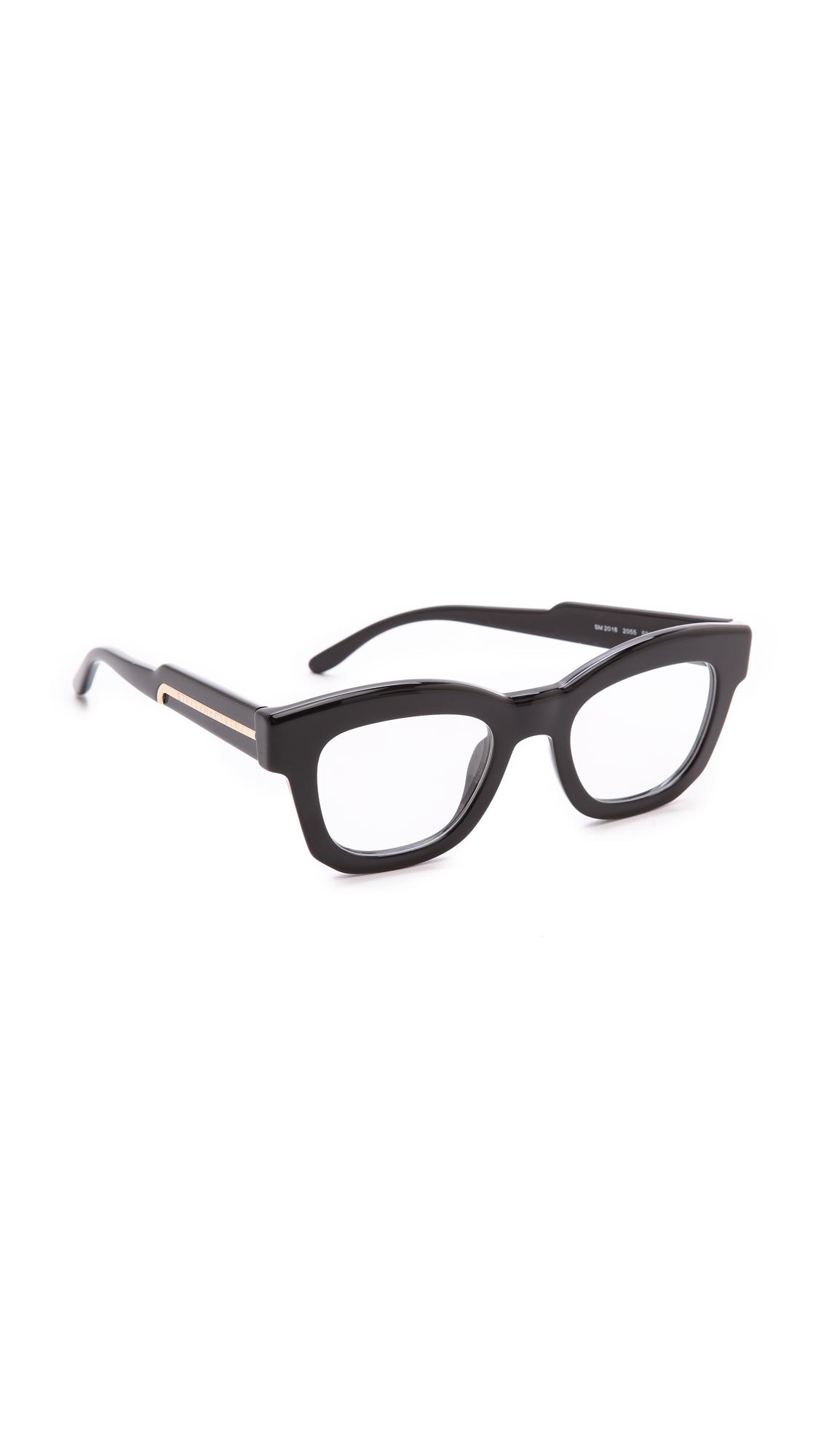 1c070e5eba Lyst - Stella McCartney Thick Frame Glasses - Brown in Black