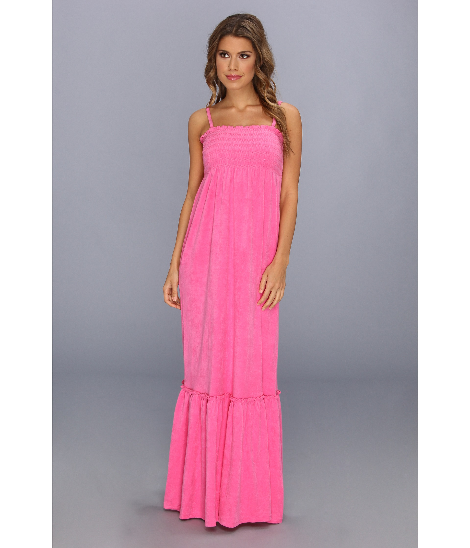 Lyst - Juicy Couture Micro Terry Smock Dress in Pink
