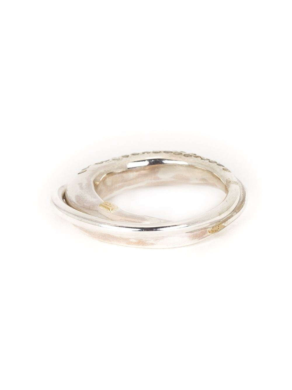 Rosa Maria diamond circular ring - Metallic 2rAcGW7HX