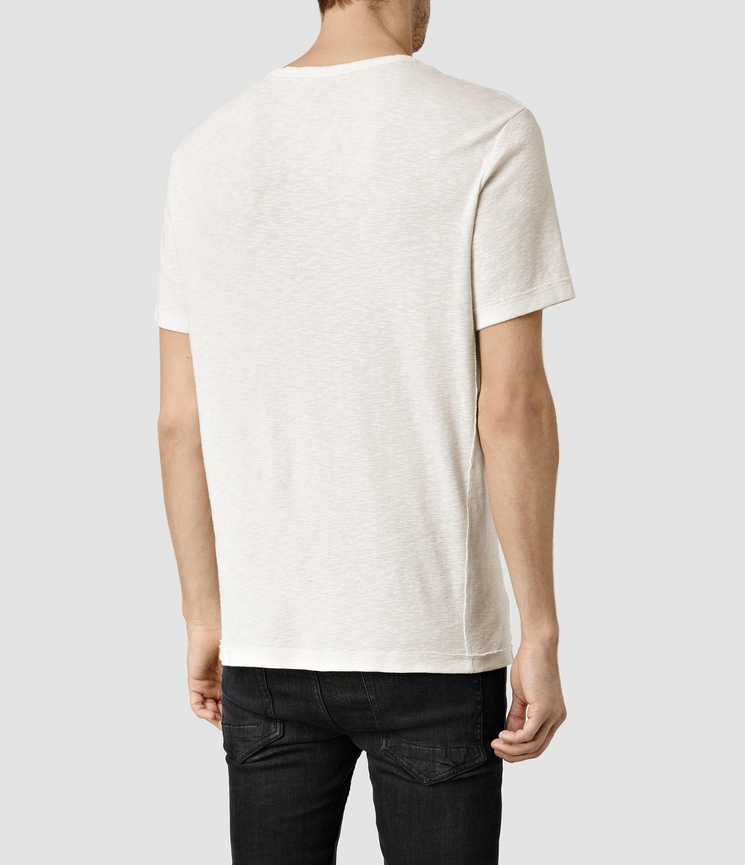 Allsaints Biedra Crew T-shirt in White for Men | Lyst