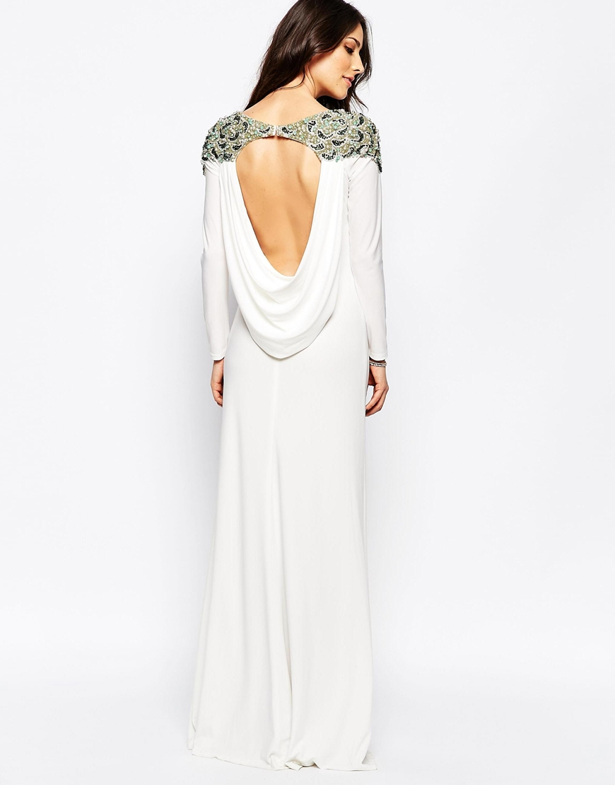 Lyst Forever Unique Calista Long Sleeve Maxi Dress With