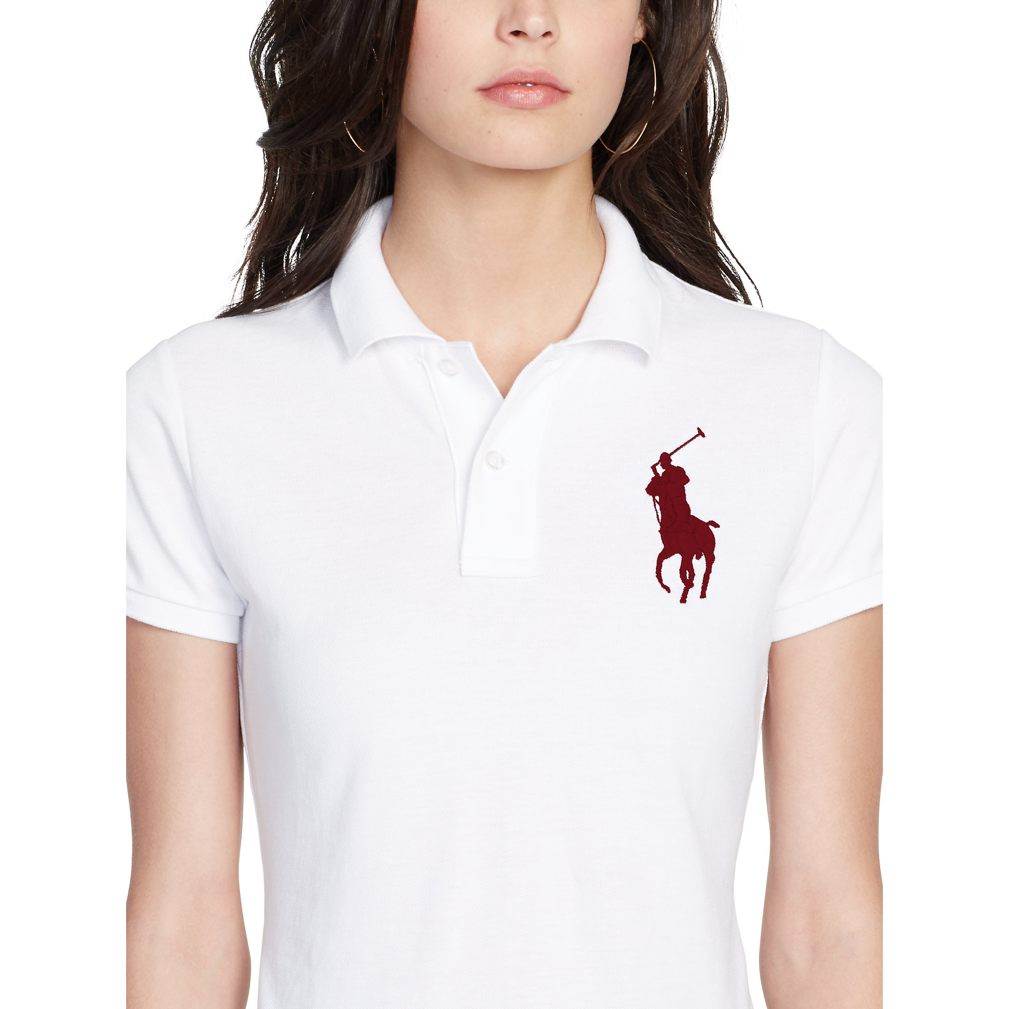 Polo Ralph Lauren | White Skinny-fit Big Pony Polo Shirt | Lyst. View Fullscreen