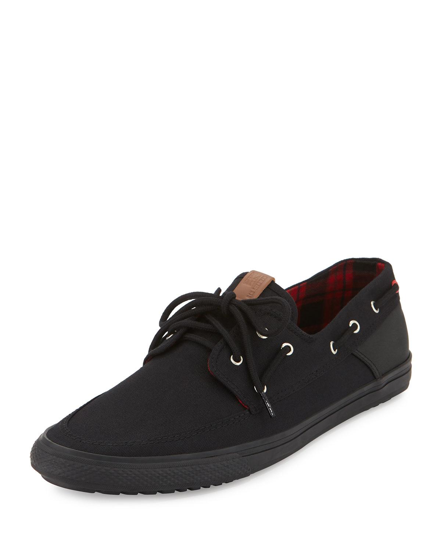 lyst ben sherman smith canvas sneaker in black for men