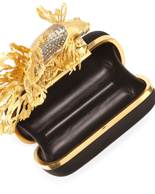 Alexander Mcqueen Fish Knuckle Box Clutch Bag In Black Lyst