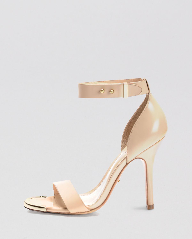 Open Toe Ankle Strap Sandal Heels | Tsaa Heel