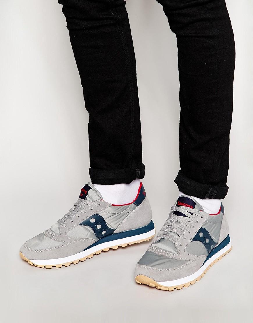 super popular 5ad59 88837 Saucony Gray Jazz Originals Sneakers for men