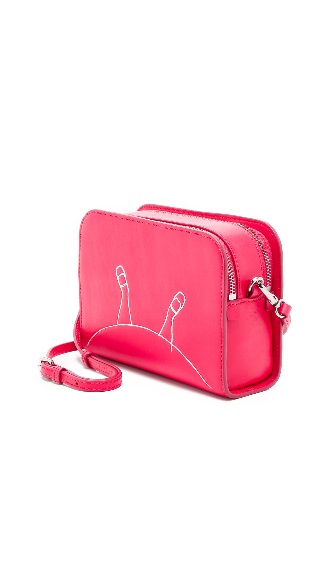 Marc By Marc Jacobs Alice Double Cross Body Bag - Singing Rose Multi in Pink