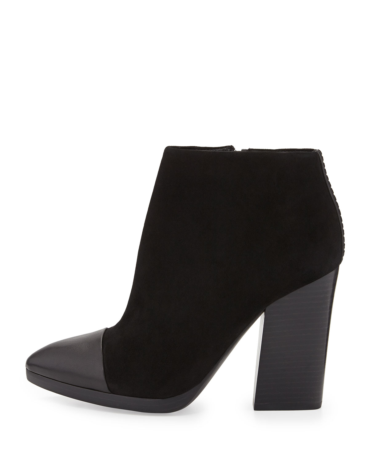 0f8176d45ae6 Lyst - Tory Burch Rivington Suede Cap-toe Ankle Boot in Black