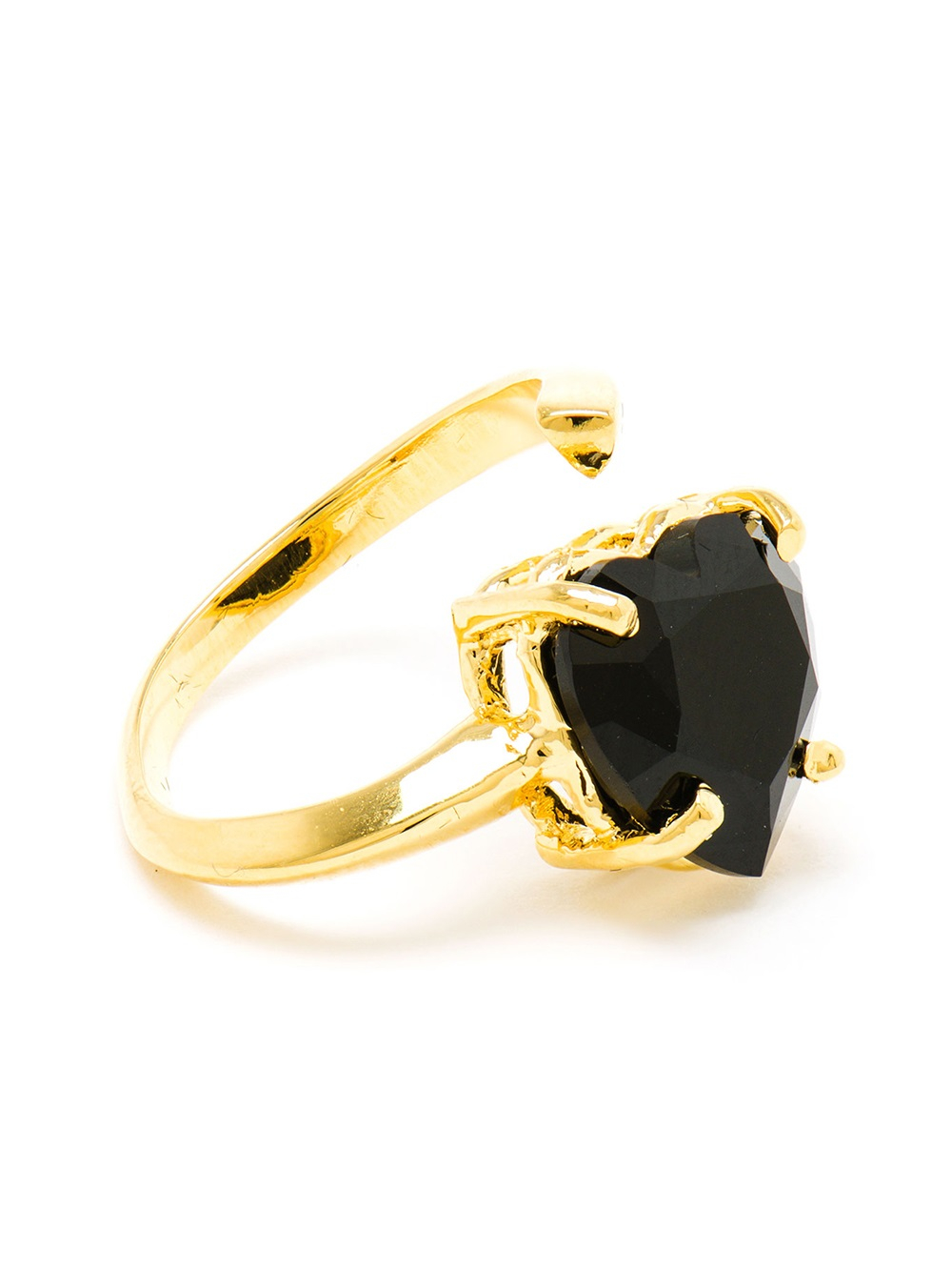 Lyst Bijules 14kt Gold Vermeil And Black Onyx Heart Ring
