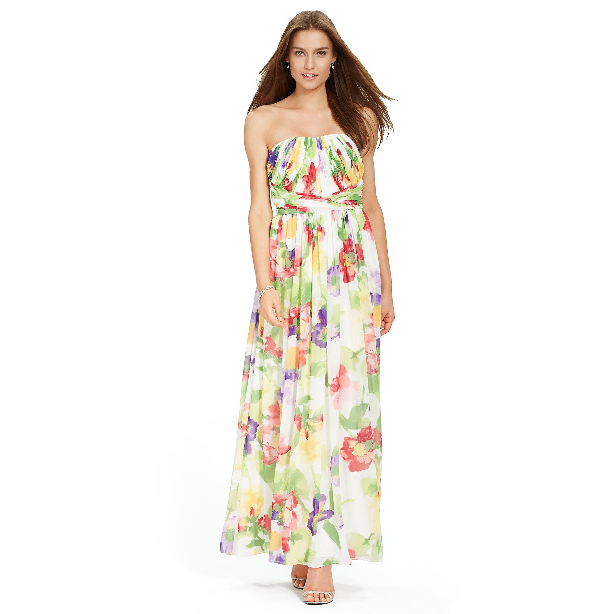 Lyst - Ralph Lauren Floral Empire-waist Gown