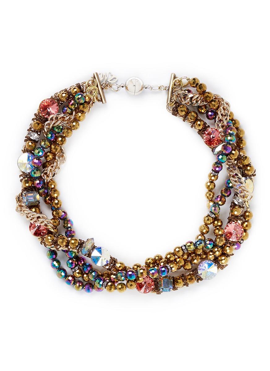 Lyst Assad Mounser Swarovski Crystal Chain Necklace