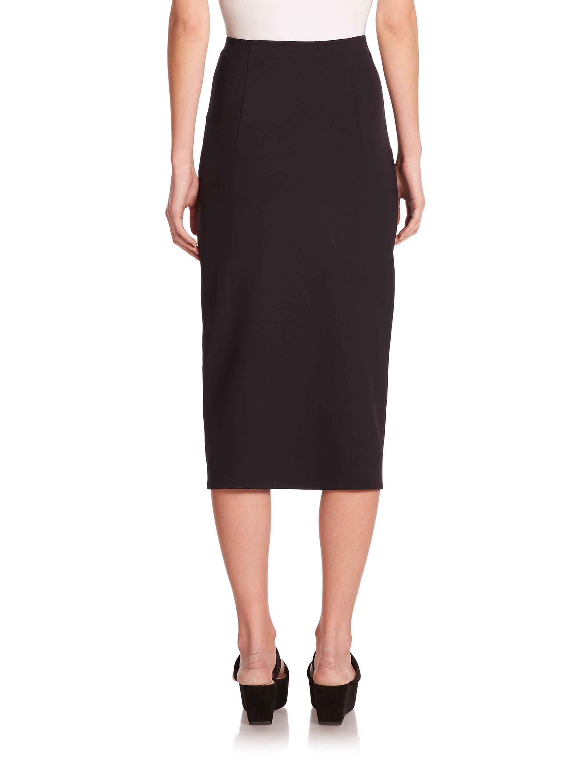 The row Rabina Scuba Pencil Skirt in Black | Lyst