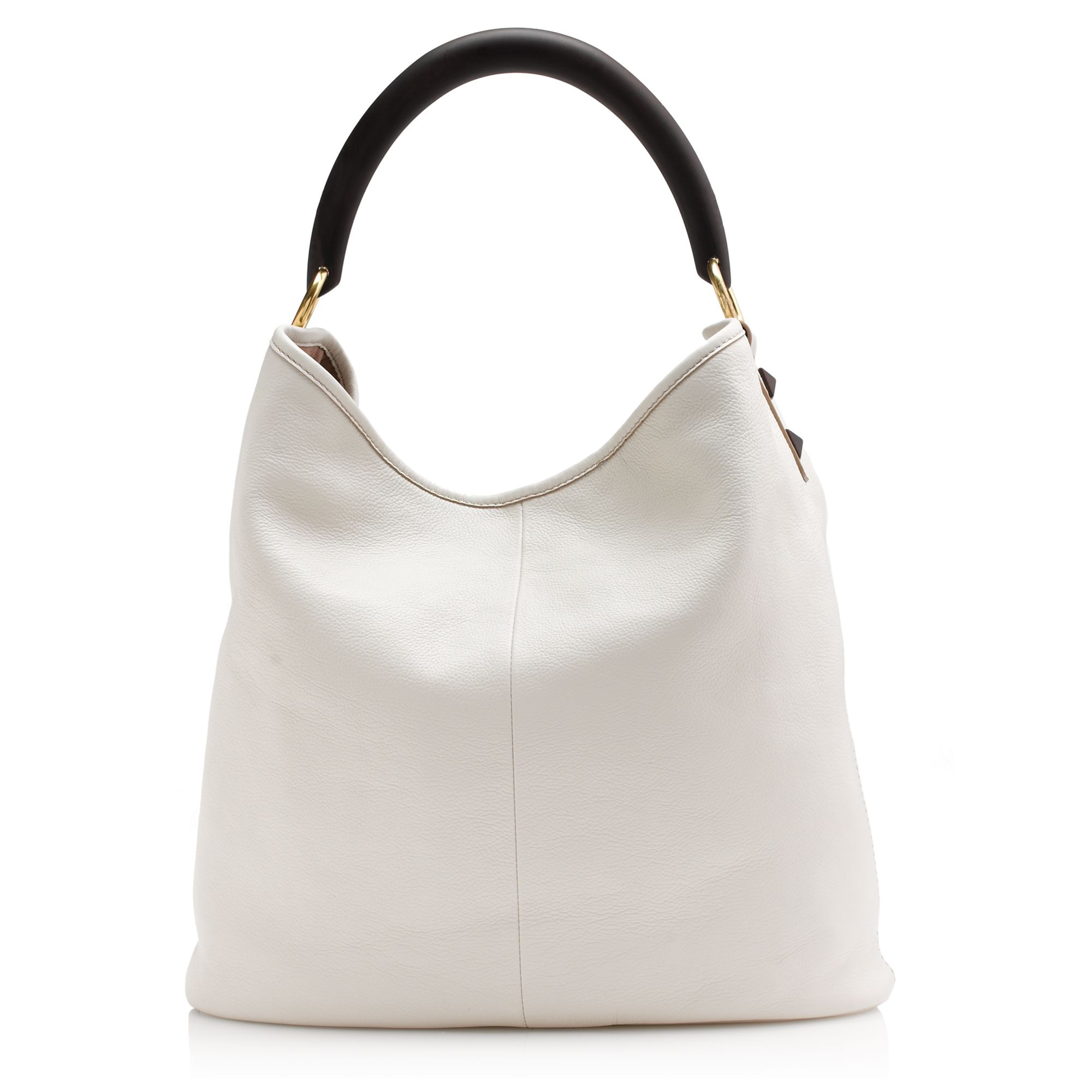 J.crew Horn Hobo in White | Lyst
