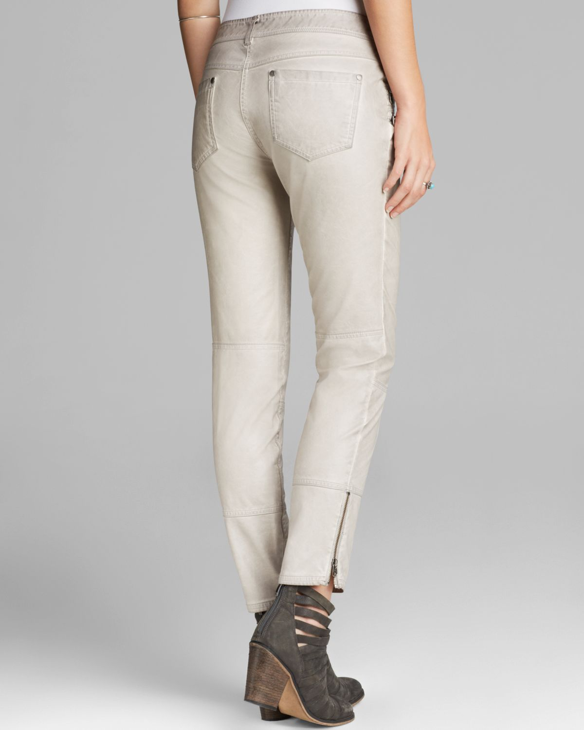 Simple Sexy White Lady Women Skinny Faux Leather Leggings Pants Trouser S