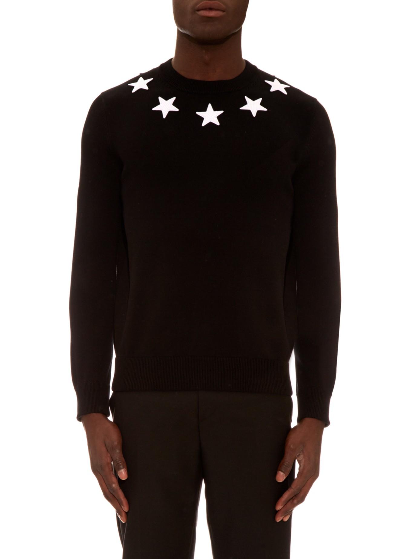 Hot Sale star applique sweatshirt - Black Givenchy Buy Cheap 2018 Best Seller Cheap Online Cheap Best vdpU7