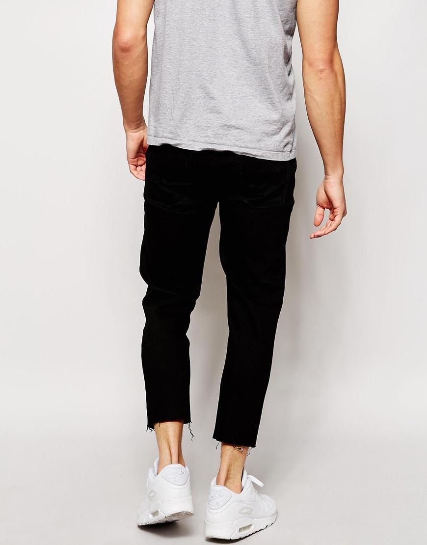 black skinny cropped jeans - Jean Yu Beauty