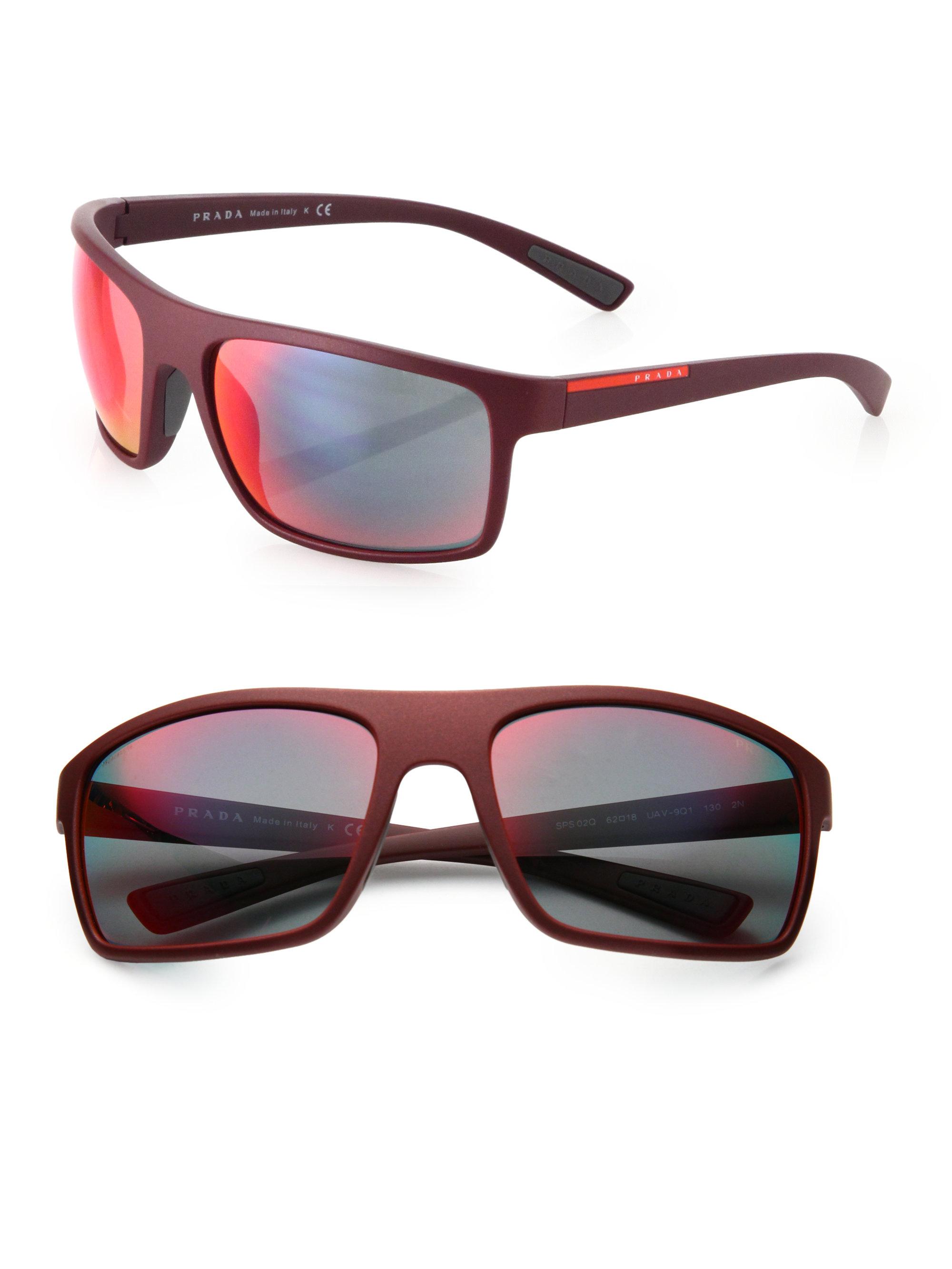 87f850a924d Lyst Prada 62mm Rectangle Sunglasses In Black For Men