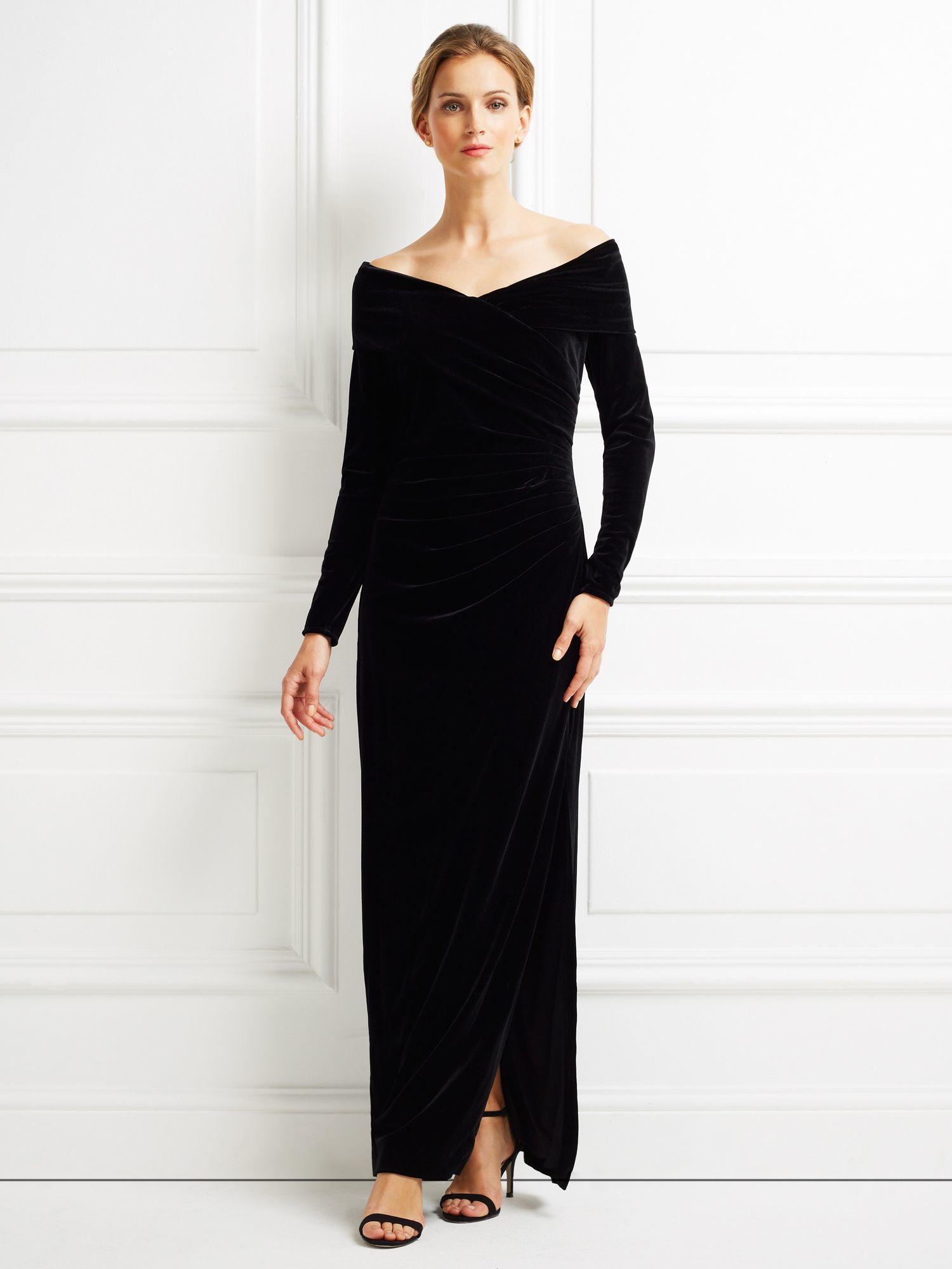 Black Velvet Long Dress Dress Ideas