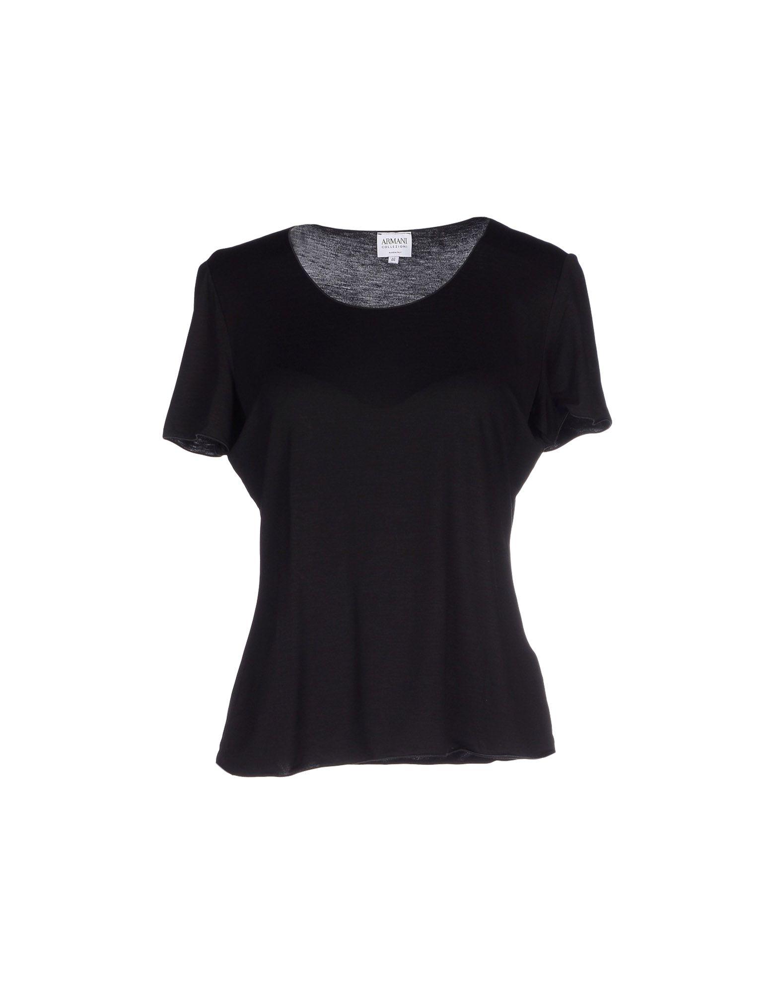 Lyst armani t shirt in black for Black armani t shirt
