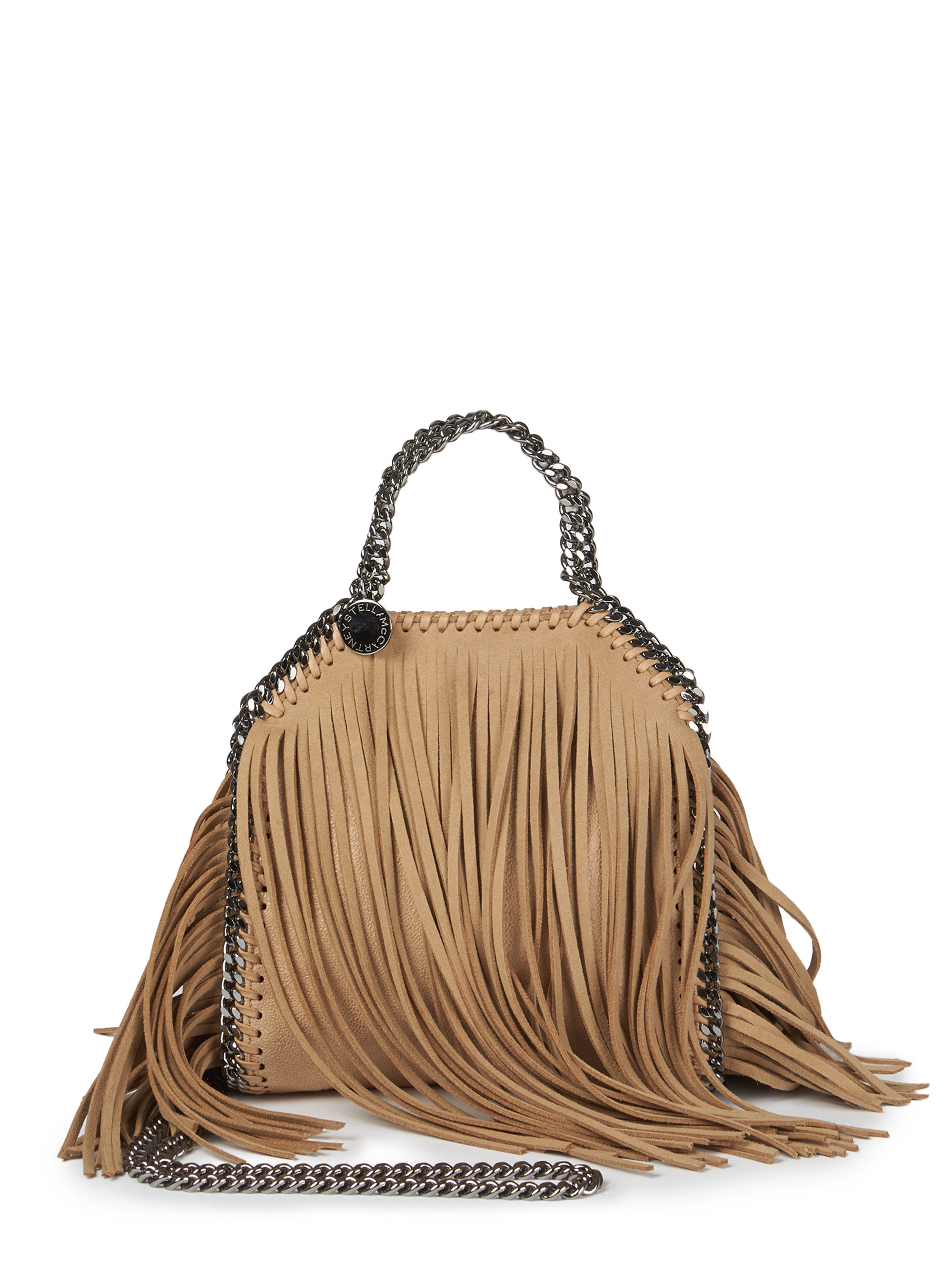 Lyst - Stella McCartney Tiny Bella Fringe Foldover Shoulder Bag in ... b169197b97693